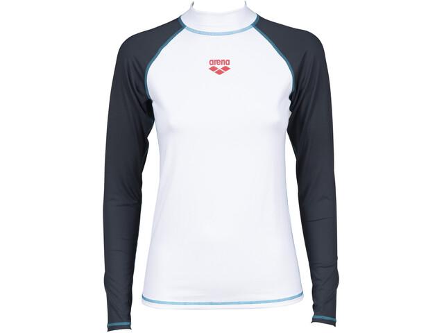 arena Rash LS UV Vest Women, wit/grijs